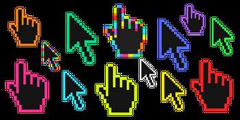 Color Pixels Cursor