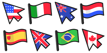 Country Flags Cursor