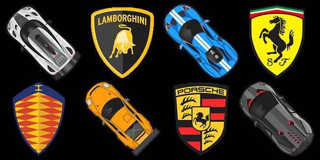 Supercars cursor collection