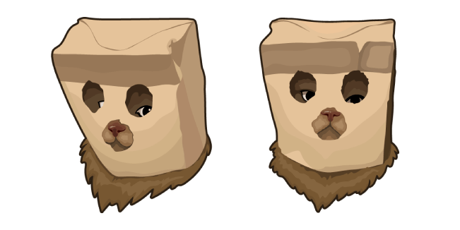 Cat in Paper Bag Mask Cursor