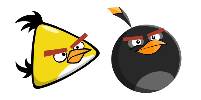 Angry Birds Chuck and Bomb
