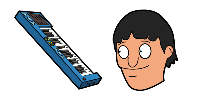 Bob's Burgers Gene Belcher and Piano Keyboard