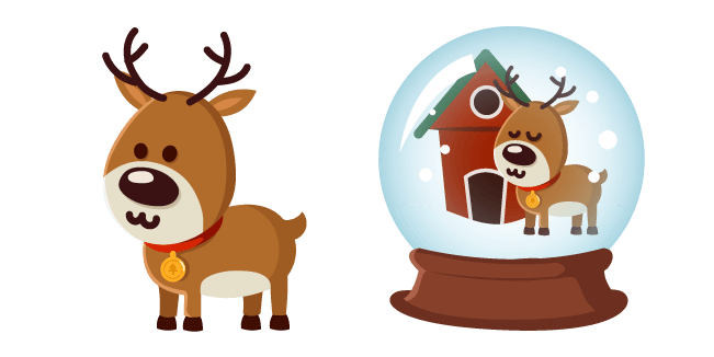 Christmas Deer and Snow Globe