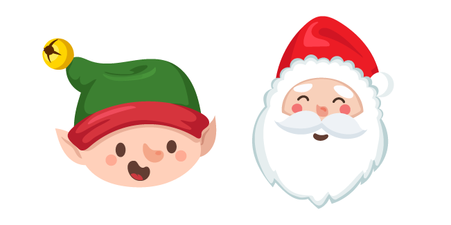 Christmas Elf and Santa Claus Cursor