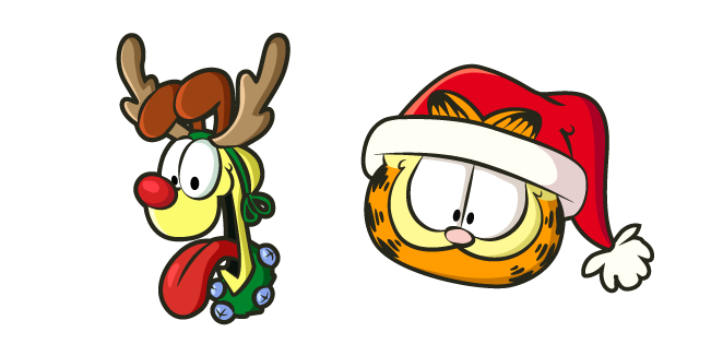 Christmas Garfield and Odie