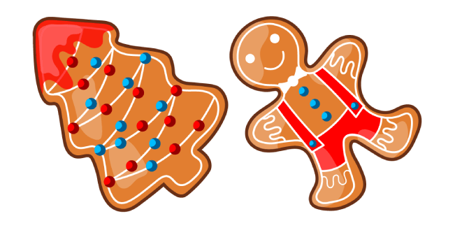 Christmas Gingerbread Tree and Man