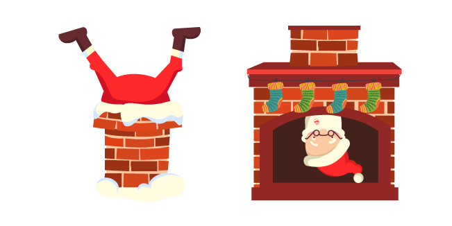 Christmas Santa Stuck in Chimney