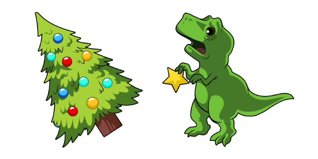 Christmas Tree and T-Rex