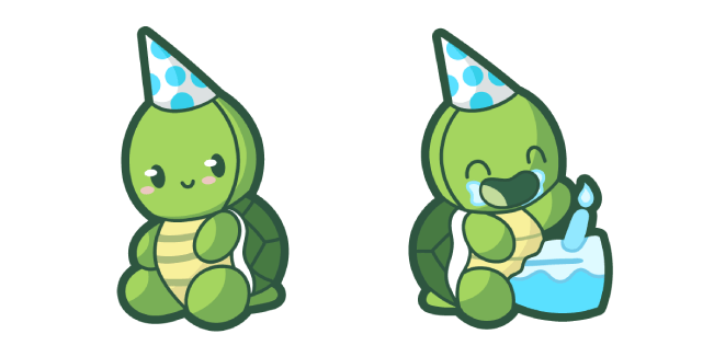 Cute Birthday Turtle