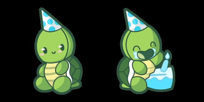 Cute Birthday Turtle Cursor