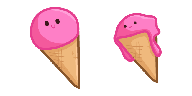 Cute Pink Ice Cream