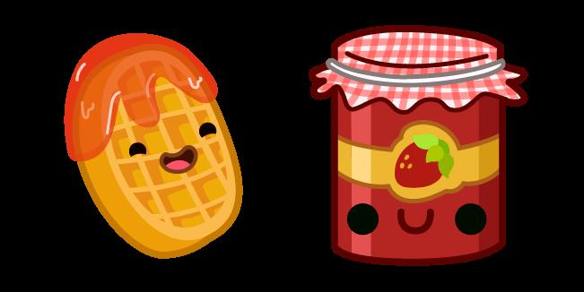 Cute Waffle and Jam