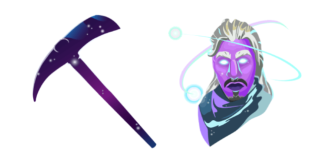 Fortnite Galaxy Skin Stellar Axe Pickaxe Cursor