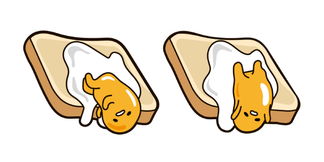 Gudetama on Toast