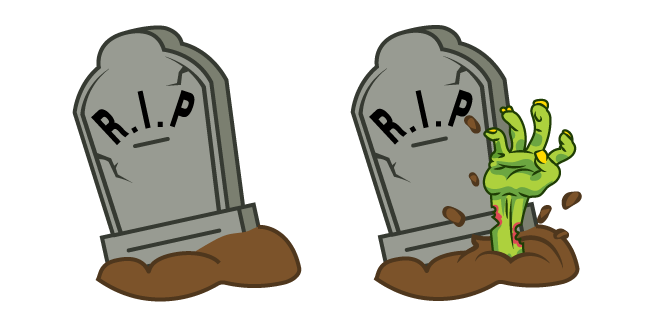 Halloween Grave and Zombie Hand