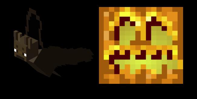 Minecraft Летучая Мышь и Резная Тыква