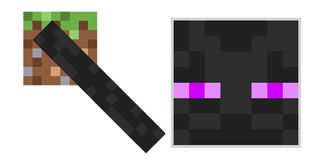 Minecraft Enderman with Earth Block