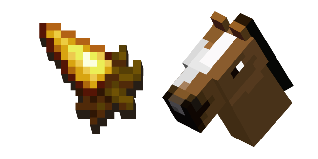 Minecraft Golden Carrot and Horse