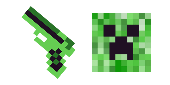 Minecraft Gun & Creeper