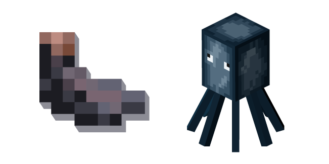 Minecraft Ink Sac and Squid