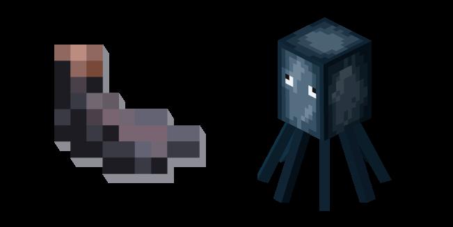 Minecraft Ink Sac and Squid Cursor