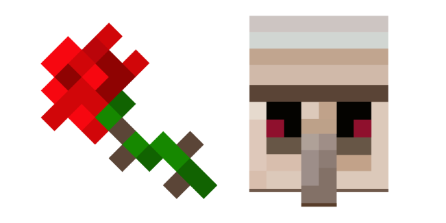 Minecraft Rose and Iron Golem