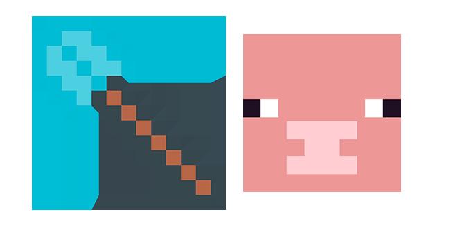 Minecraft Diamond Shovel & Pig