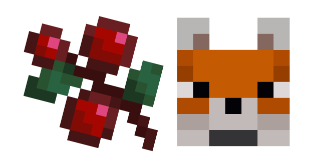 Minecraft Sweet Berries and Fox