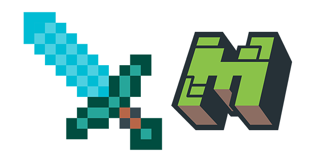 Minecraft Diamond Sword & Logo