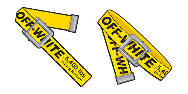 Off-White Yellow Industrial Belt Cursor