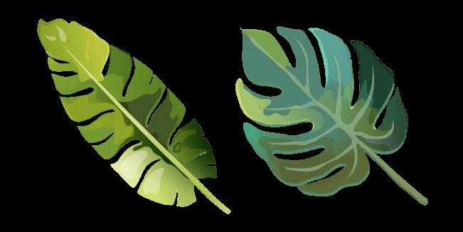 Aquarelle Tropical Leaf Cursor