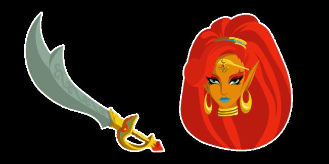 The Legend of Zelda Urbosa Scimitar of the Seven Sword Cursor