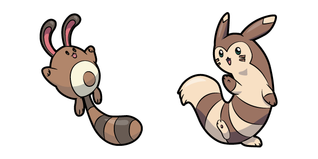 Pokemon Sentret and Furret