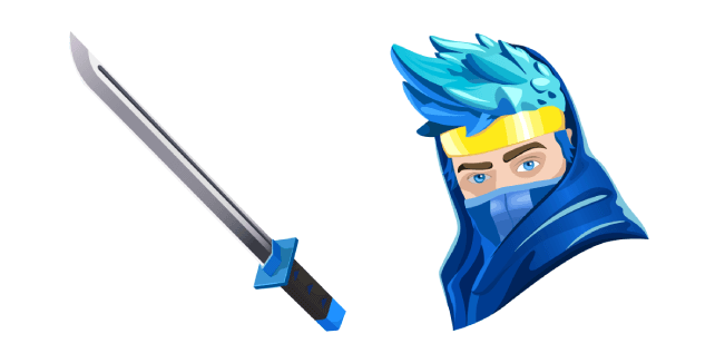 Fortnite Ninja Skin Dual Katanas Back Bling