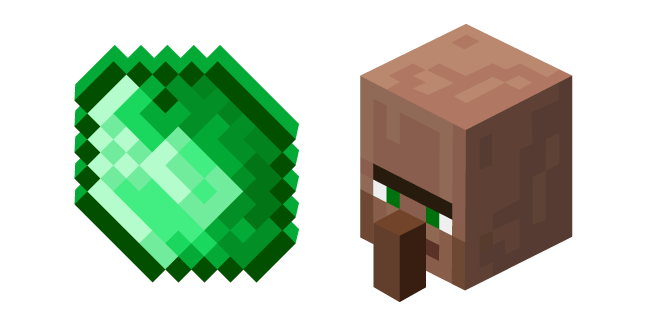 Minecraft Emerald and Villager