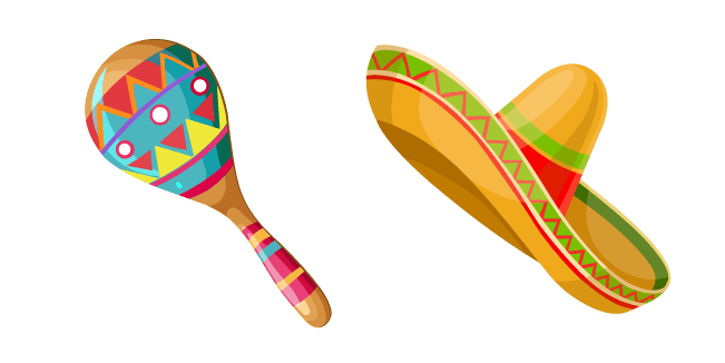 Mexico Maraca and Sombrero