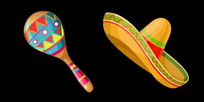 Mexico Maraca and Sombrero