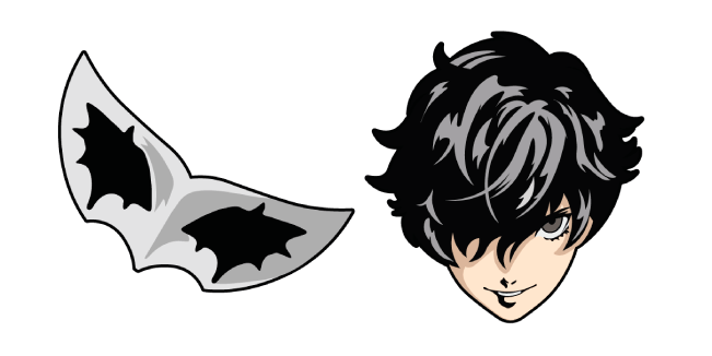 Persona 5 Joker Mask Cursor Custom Cursor Browser Extension