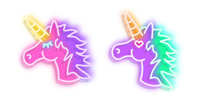 Pink and Purple Unicorn Neon