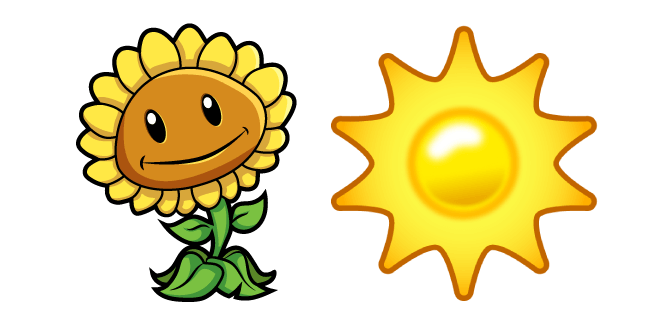 Plants vs. Zombies Sunflower and Sun