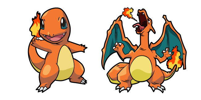 Pokemon Charmander and Charizard