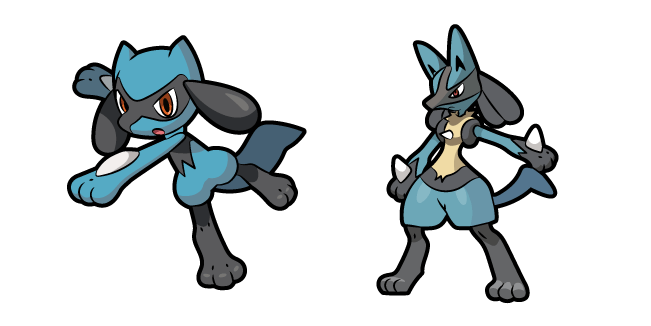 Pokemon Riolu and Lucario