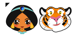 Aladdin Jasmine Princess and Rajah Cursor