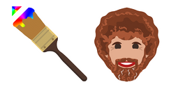 Bob Ross Paint Brush Cursor