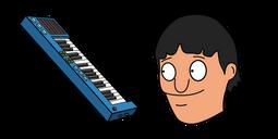 Bob's Burgers Gene Belcher and Piano Keyboard Cursor