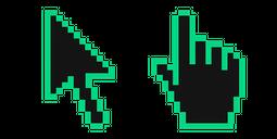 Caribbean Green Pixel Cursor
