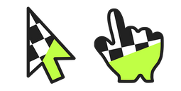 Checkered with Lime Cursor