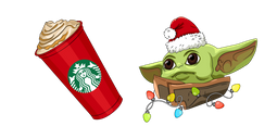 Christmas Baby Yoda and Starbucks Cup Cursor