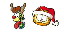 Christmas Garfield and Odie Cursor