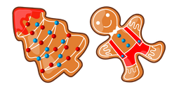 Christmas Gingerbread Tree and Man Cursor